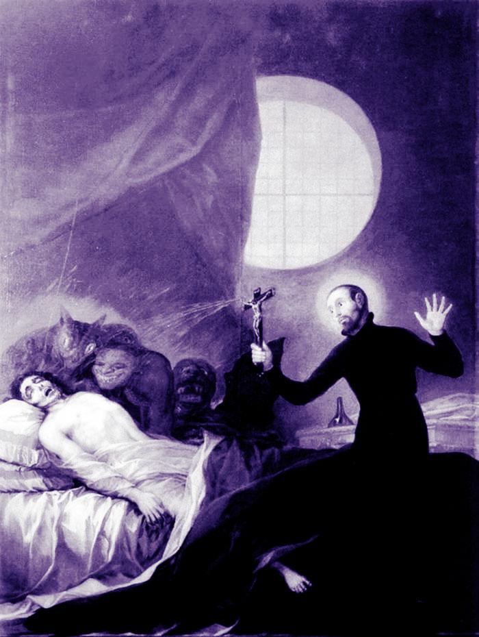 Borgia painting of exorcism